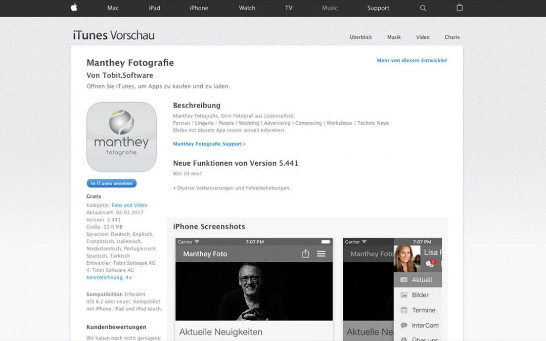 Manthey Fotografie auch als App erhältlich