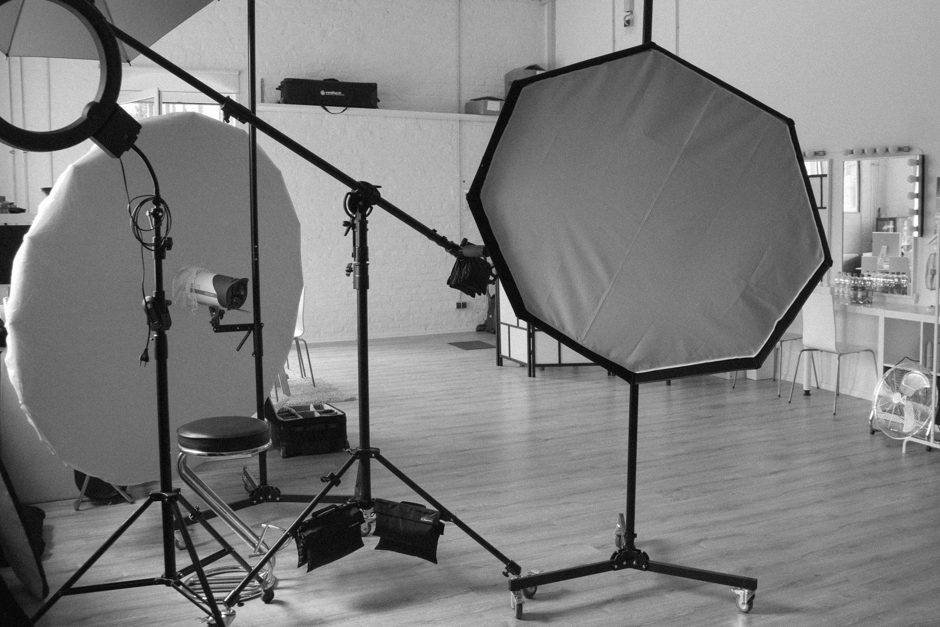 Grundlagen der Studiofotografie, Ansicht Blitze Priolite