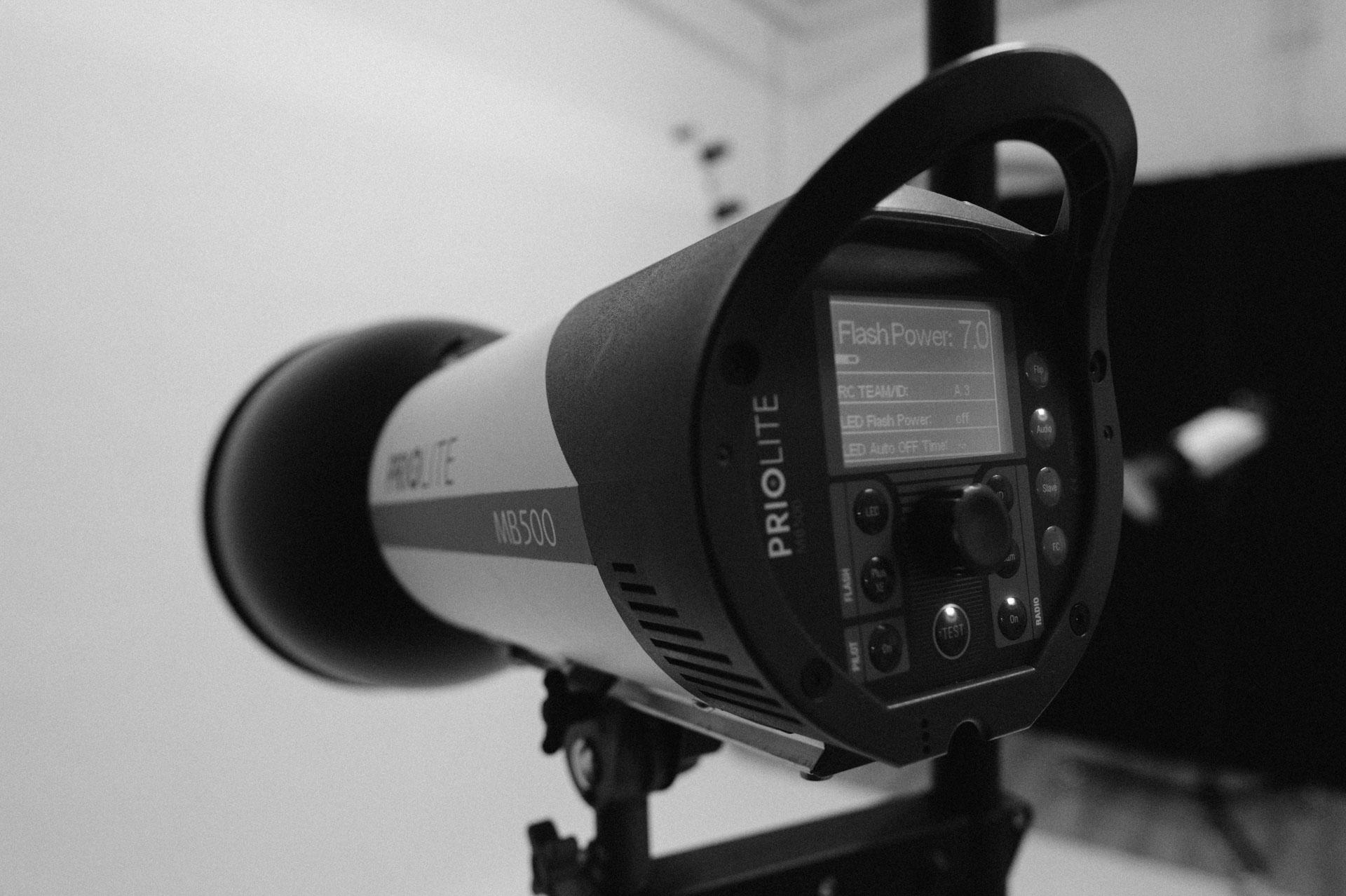 Grundlagen der Studiofotografie, Blitzkopf Priolite